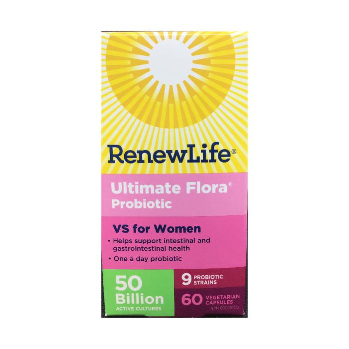 Ultimate Flora Probiotic Vaginal Support 60 Capsules Renew Life