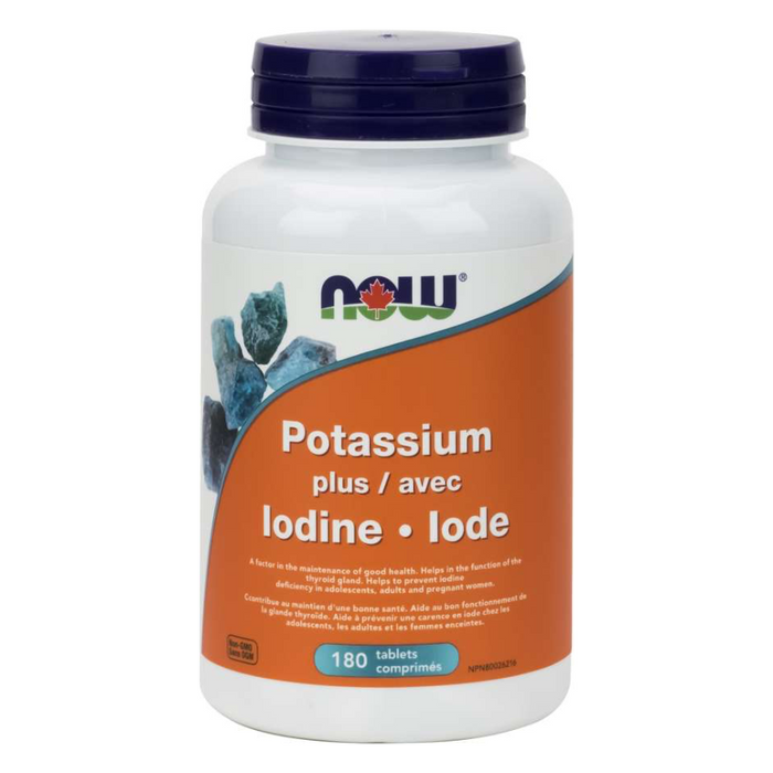 Potassium Plus Iodine 180 Tablets Now Foods