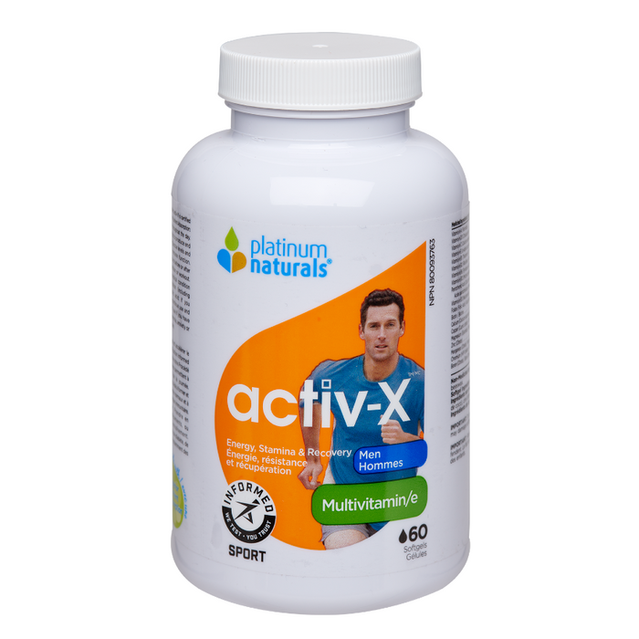 Active-X Energy, Stamina & Recovery Multivitamin for Men Platinum Naturals