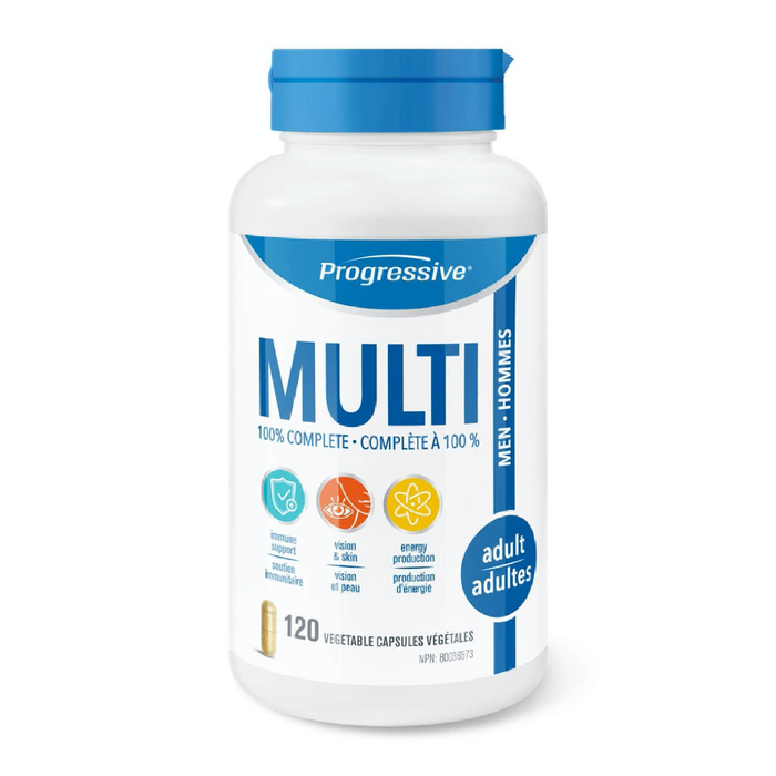 100% Complete Multi for Adult Men 120 Capsules Progressive