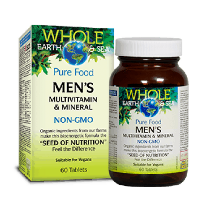 Pure Food Men's Multivitamin & Mineral 60 Tablets Whole Earth & Sea