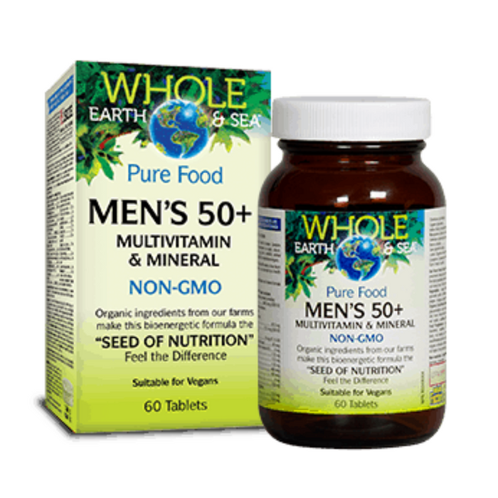 Pure Food Men's 50+ Multivitamin & Mineral Whole Earth & Sea