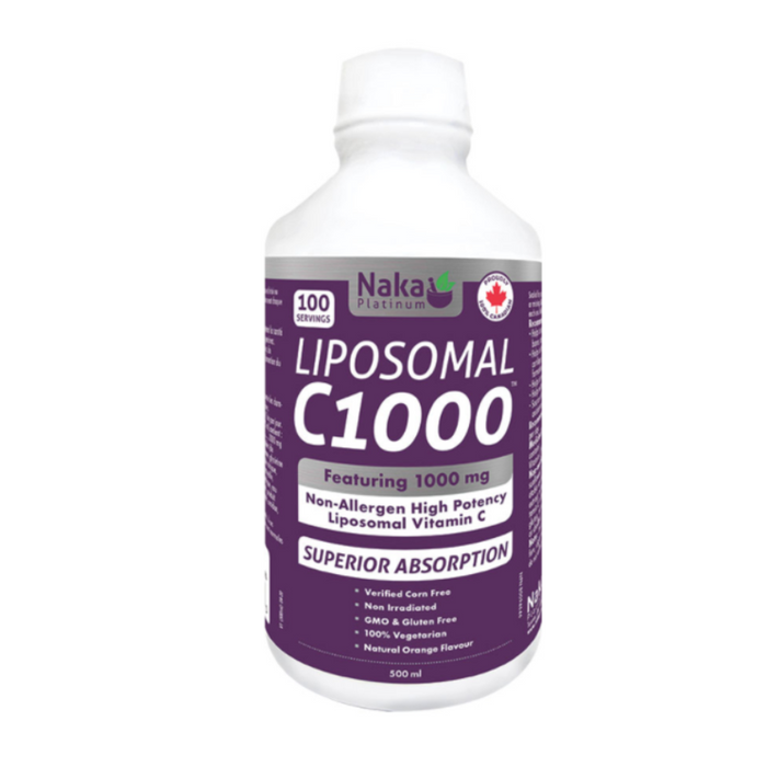 Liposomal C1000 600ml Orange Flavour Naka