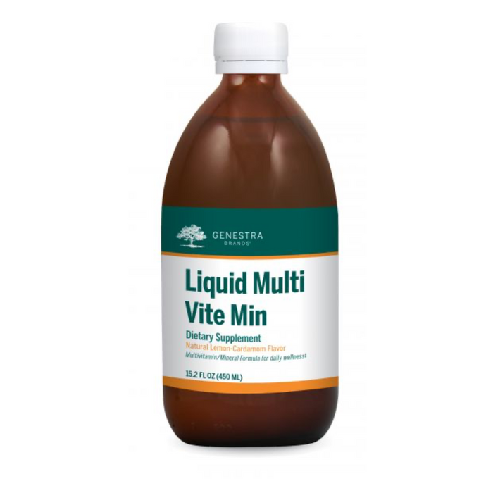 Liquid Multi Vite Min Vitamin-Mineral Supplement 450ml Genestra Brands