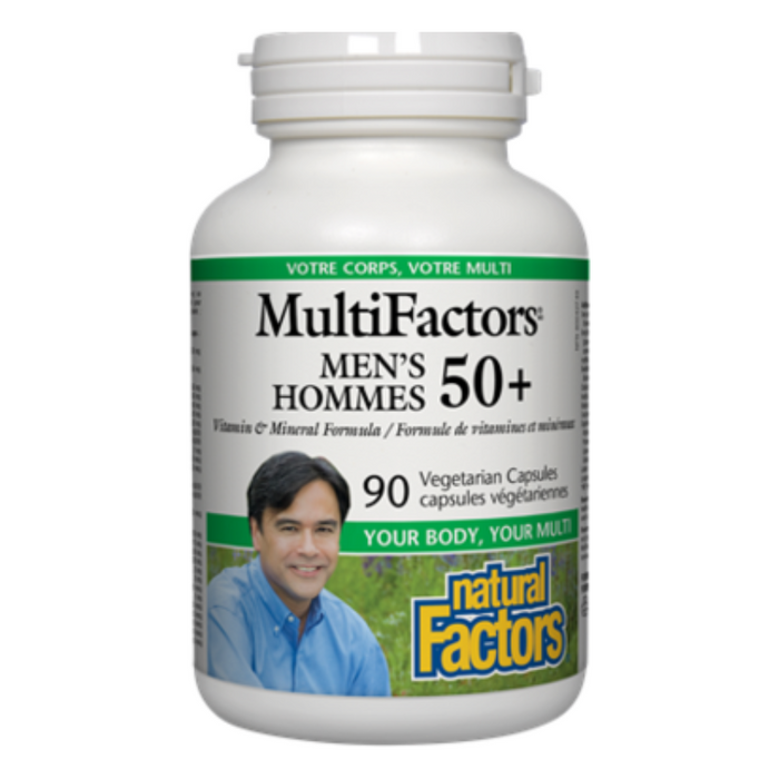 MultiFactors Men's 50+ Vitamin & Mineral Formula 90 Capsules Natural Factors