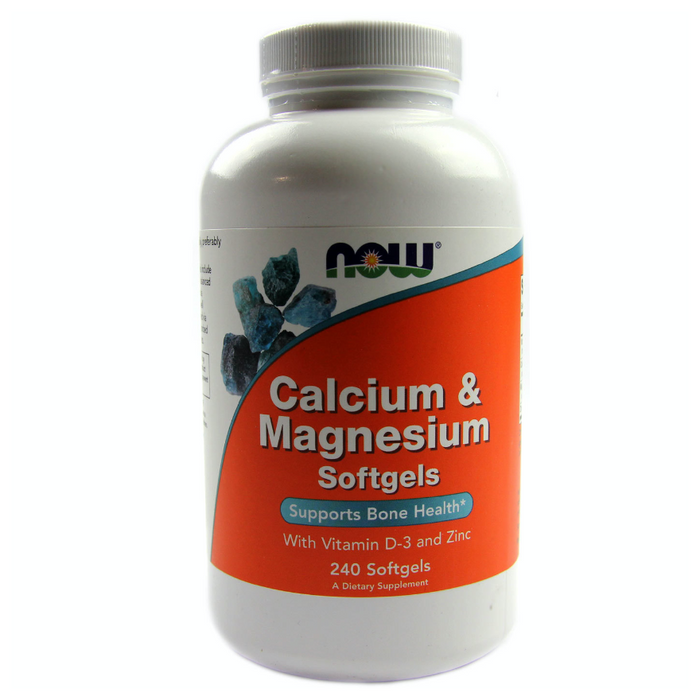 Calcium & Magnesium with Zinc and Vitamin D 240 Softgels Now Foods