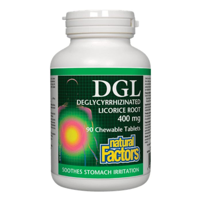 DGL (Deglycyrrhizinated Licorice Root) 400mg Chewable Tablets Natural Factors