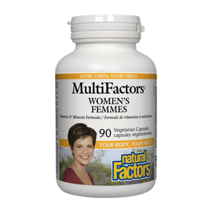 MultiFactors Women's Vitamin and Mineral Formula 90 Capsules Natural Factors