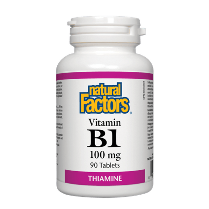 Vitamin B1 100mg Thiamine 90 Tablets Natural Factors