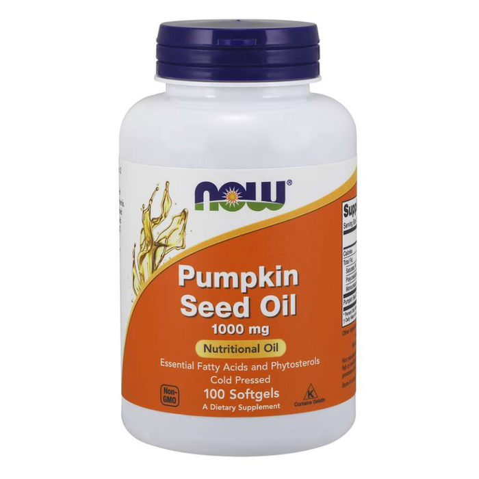 Pumpkin Seed Oil 1000mg 100 Softgels Now Foods