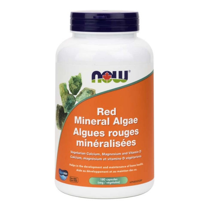 Red Mineral Algae 180 Capsules Now Foods