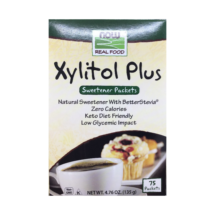 Xylitol Plus 75 Sweetener Packets Now Real Food