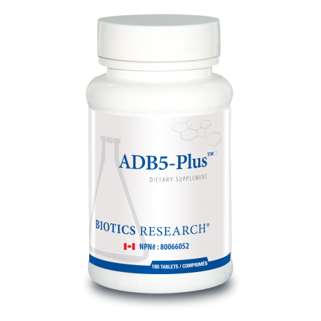 ADB5-Plus 180 Tablets Biotics Research Canada