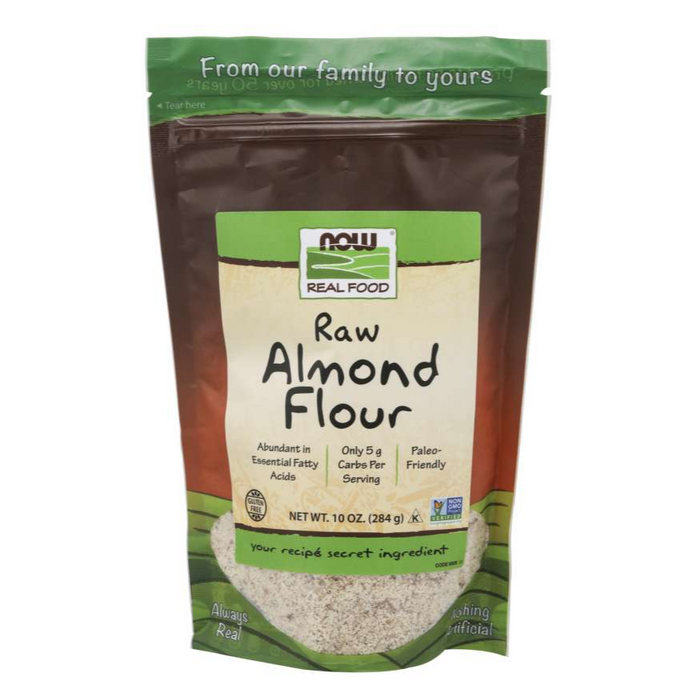Raw Almond Flour 10oz Flour Substitute Now Real Food