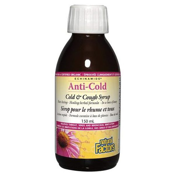Echinamide Anti-Cold Cold and Cough Syrup 150ml Natural Factors