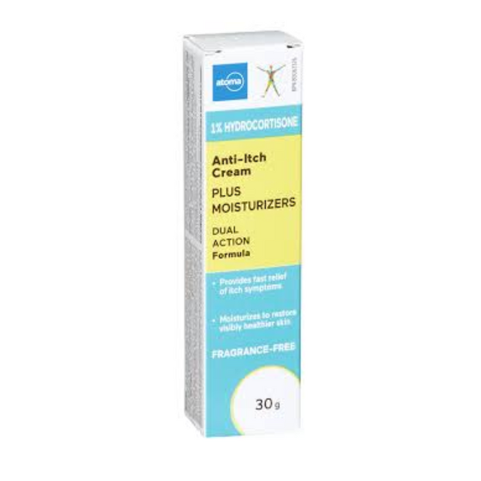 Atoma Anti-Itch Cream 1% Hydrocortisone with Moisturizers 30g