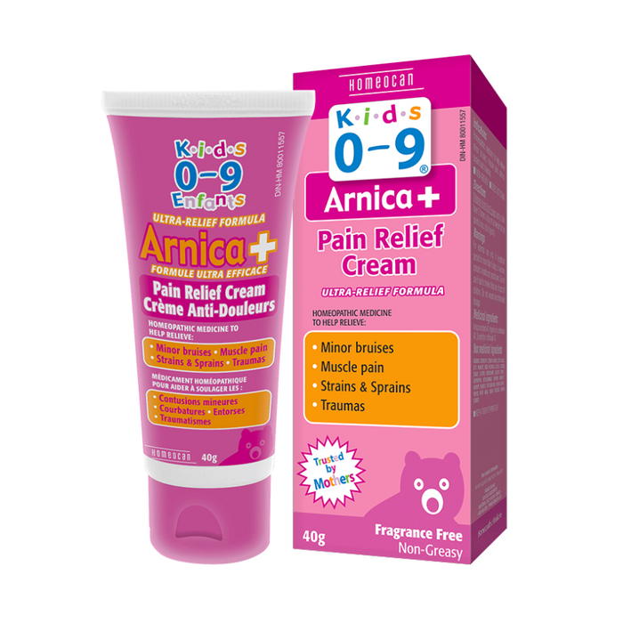 Arnica+ Pain Relief Cream for Kids 0-9 Homeocan