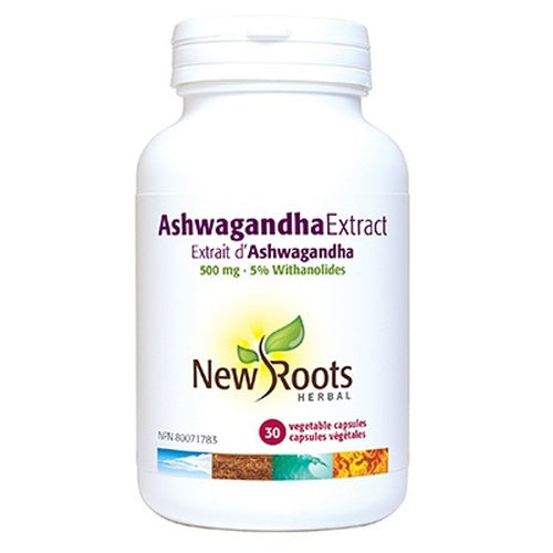 Ashwagandha Extract 500mg 30 Capsules New Roots Herbal