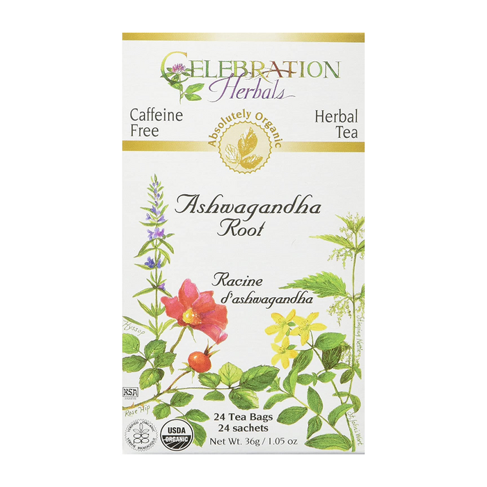 Ashwagandha Root Herbal Tea 24 Tea Bags Celebration Herbals