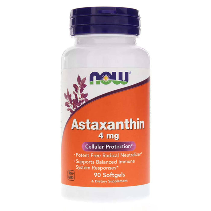Astaxanthin 4mg 90 Capsules Now Foods