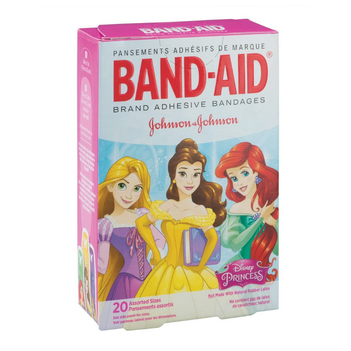 Band-Aid Disney Princesses Bandages - 20 Assorted Pack