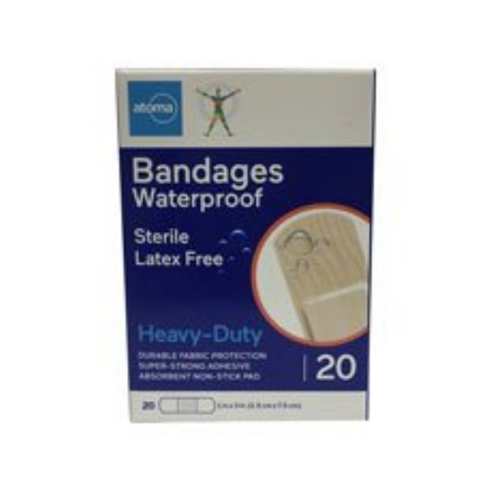 Atoma Heavy Duty Waterproof Bandages - 20 Pack