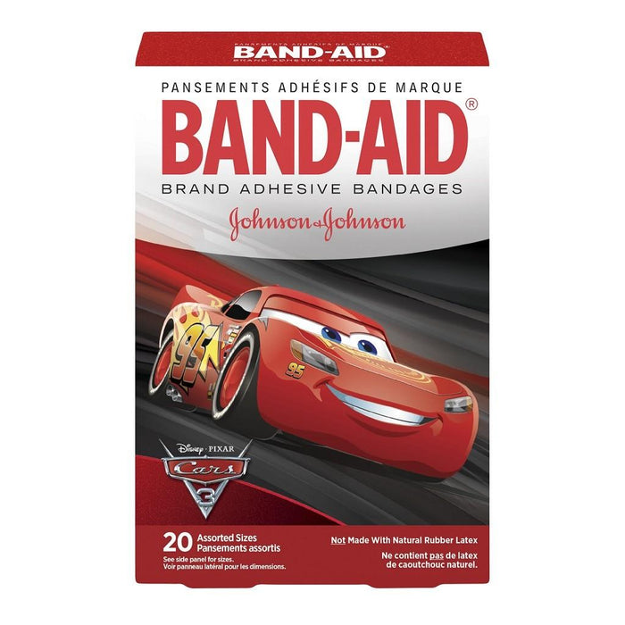 Band-Aid Disney Cars Bandages - 20 Assorted Pack