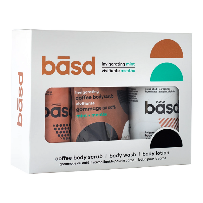 Basd Invigorating Mint Combo Pack Body Scrub - Body Wash - Body Lotion
