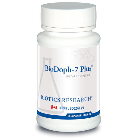 BioDoph-7 Plus 60 Capsules Biotics Research Canada