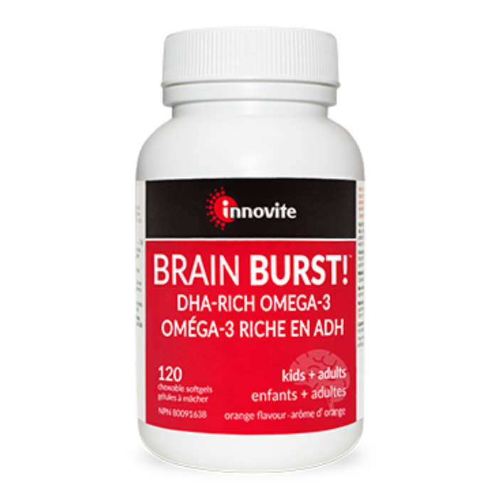 Innovite Brain Burst! DHA-Rich Omega-3 120 Softgels