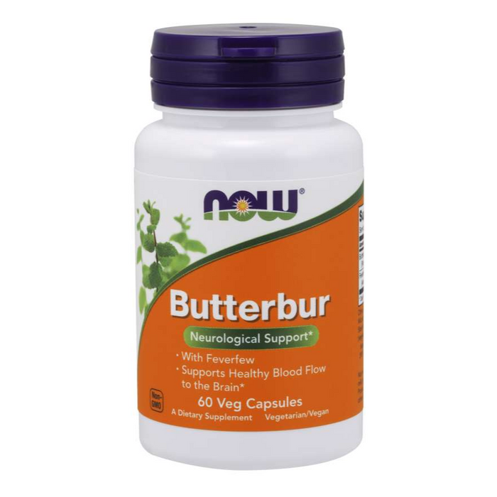 Butterbur 75mg with Feverfew 60 Capsules Now Foods