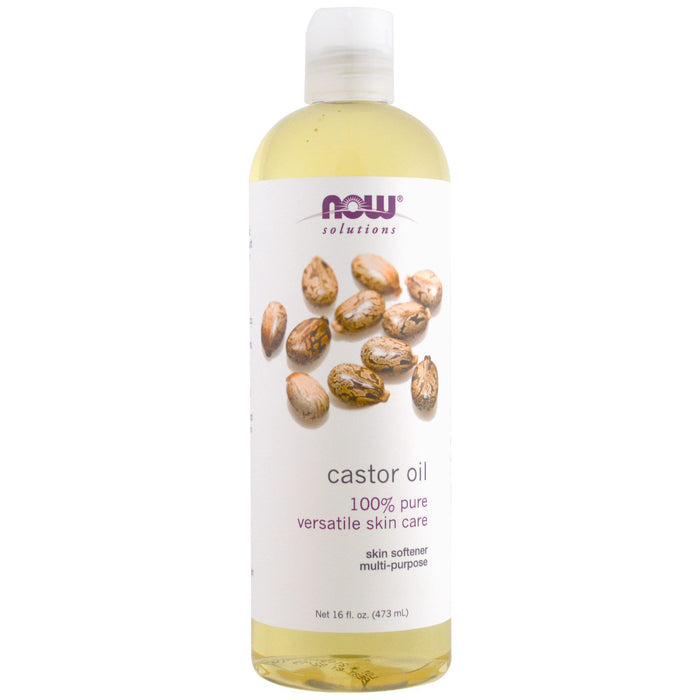 Castor Oil 100% Pure 473ml Now Foods