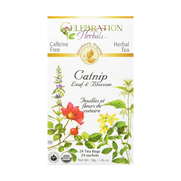 Catnip Leaf & Blossom Herbal Tea 24 Tea Bags Celebration Herbals