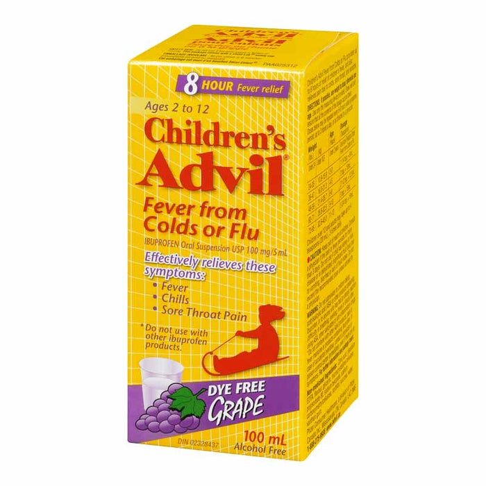 Children's Advil Fever from Colds or Flu 100ml Grape Flavoured