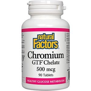 Chromium GTF Chelate 500mcg 90 Tablets Natural Factors