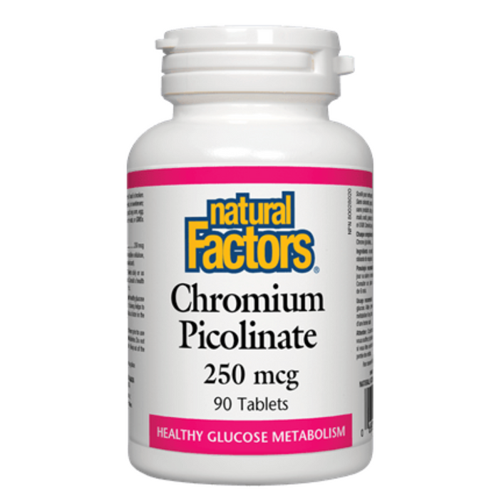 Chromium Picolinate 250mcg 90 Tablets Natural Factors