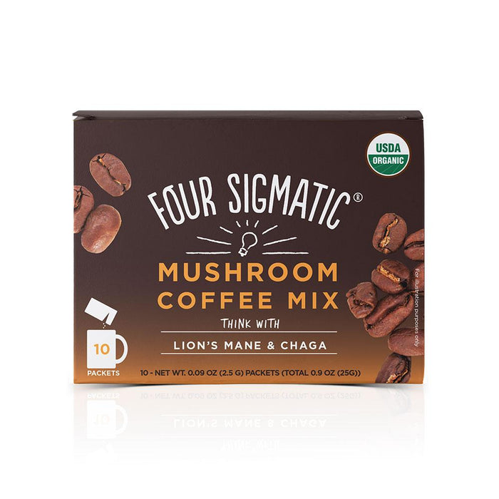 Mushroom Coffee Mix with Lion's Mane and Chaga 10 Packets Four Sigmatic
