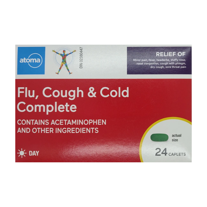 Atoma Flu, Cough and Cold Complete Daytime 24 Caplets