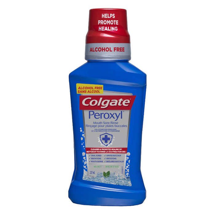 Colgate Peroxyl Mouth Sore Rinse Mint 237ml