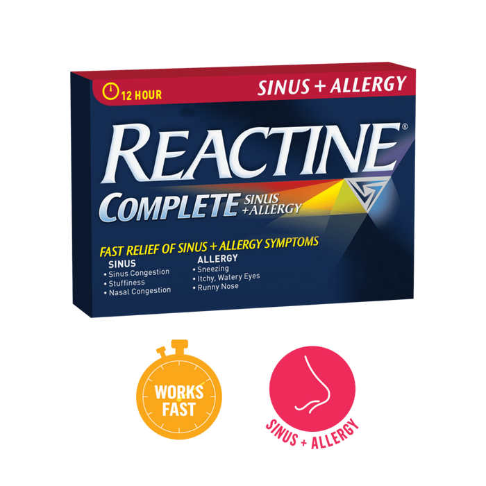 Reactine Complete Allergy + Sinus 30 Tablets