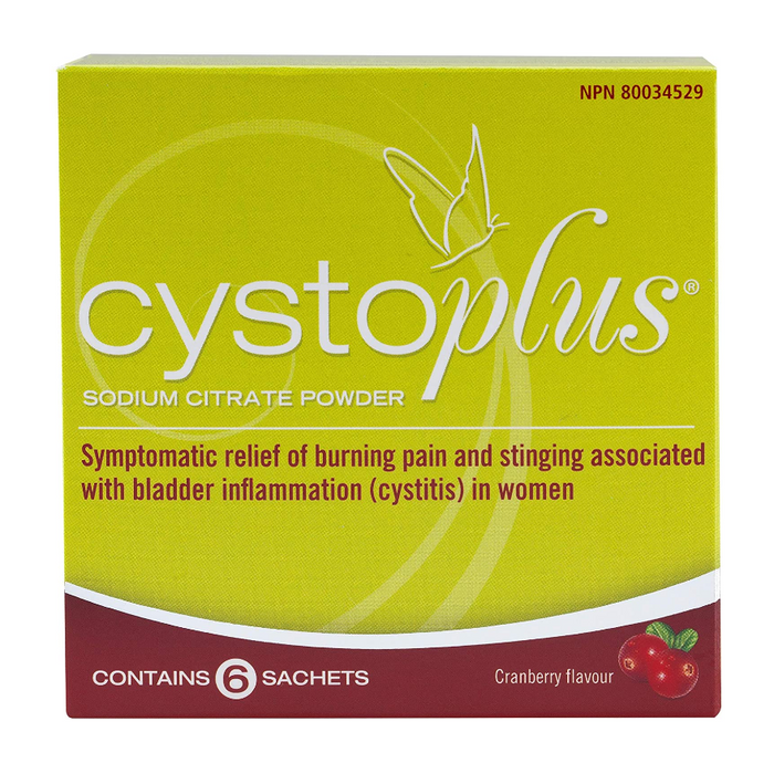 Cystoplus Sodium Citrate Powder 6 Cranberry Flavoured Sachets