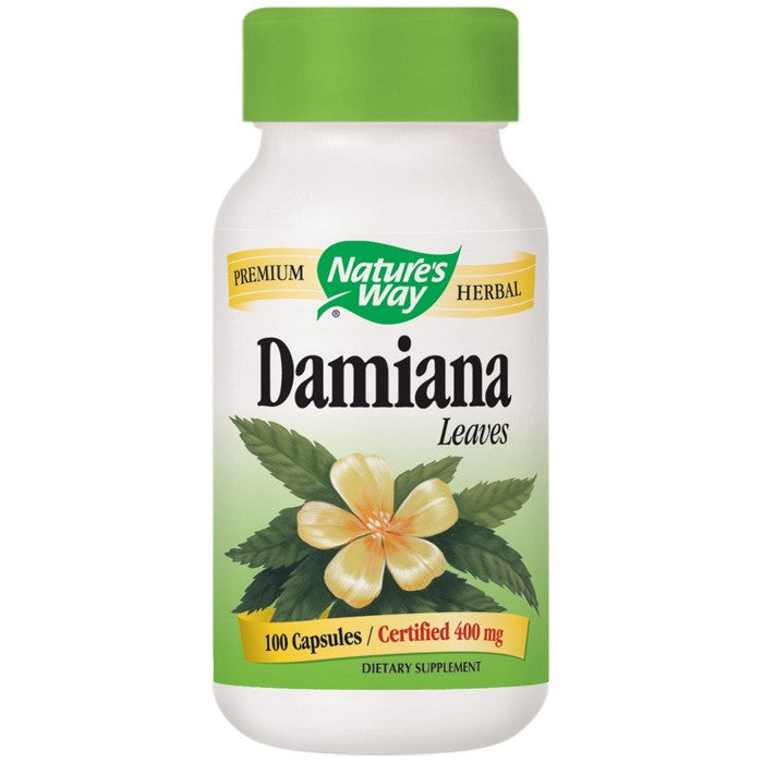 Damiana Leaves 400mg 100 Capsules Nature's Way