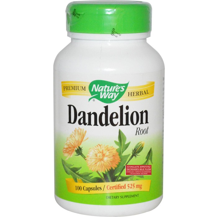 Dandelion Root 525mg 100 Capsules Nature's Way