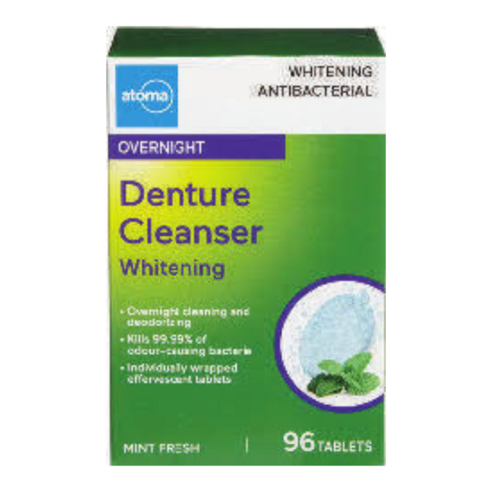 Atoma Denture Cleanser Overnight Whitening 96 Tablets