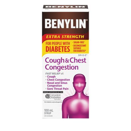 Benylin Extra Strength Cough and Chest Congestion for People with Diabetes 100ml
