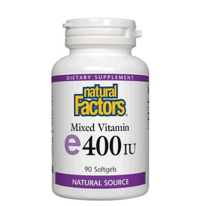 Vitamin E 400 IU 90 Softgels Natural Factors