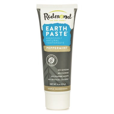 Redmond Earthpaste Natural Toothpaste with Charcoal Peppermint