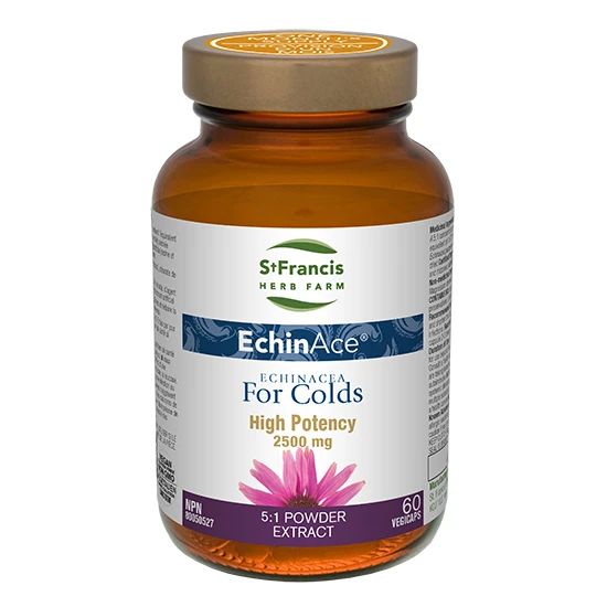EchinAce Echinacea For Colds High Potency 60 Vegicaps St. Francis Herb Farm