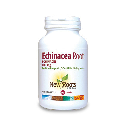Echinacea Root 400mg 90 Capsules New Roots Herbal