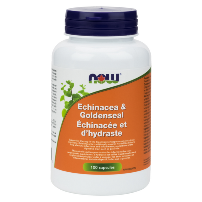 Echinacea & Goldenseal 100 Capsules Now Foods
